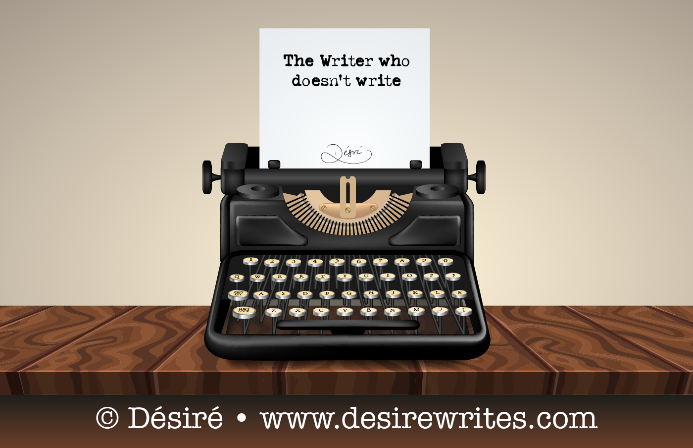 The Writer who doesn't write